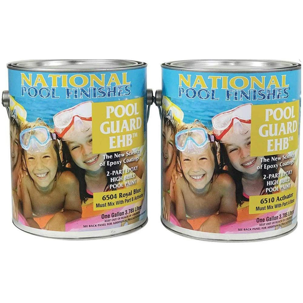 National Pool Finishes Pool Guard EHB - Epoxy High Build - Semi-Gloss Finish - 2 Gallon Kit (#6502K Medium Blue) by National Pool Finishes