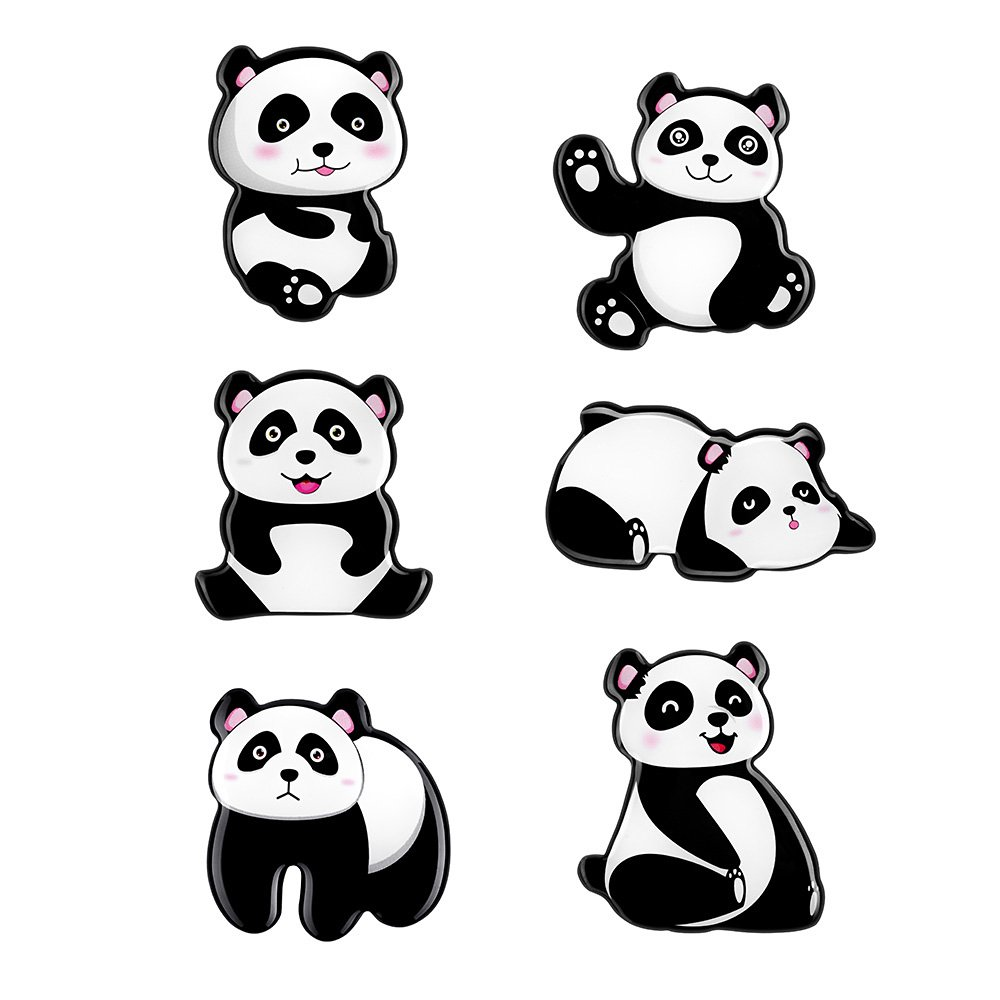 Morcart Refrigerator Magnets Fun Magnets ctue Panda Magnets(6pcs) Panda Kitchen Magnets Set Suitable for Holiday Gifts, Kitchens, whiteboard,Favorite Child,offiice and More(Panda Magnets B)