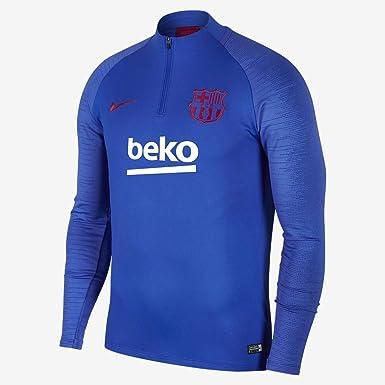 Amazon Com Nike 2019 2020 Barcelona Drill Training Top Blue Clothing