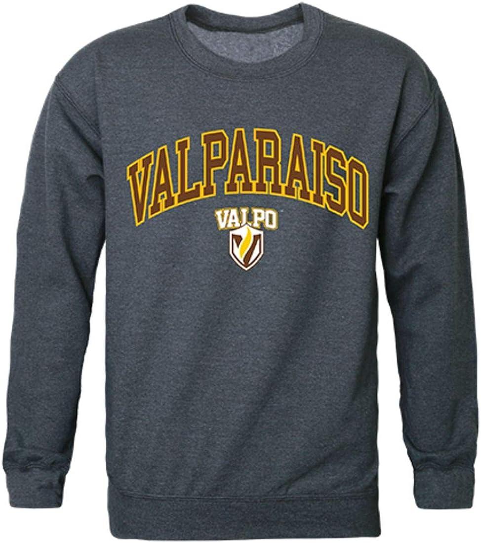 W Republic Valparaiso University Campus Crewneck Pullover Sweatshirt Sweater Heather Charcoal
