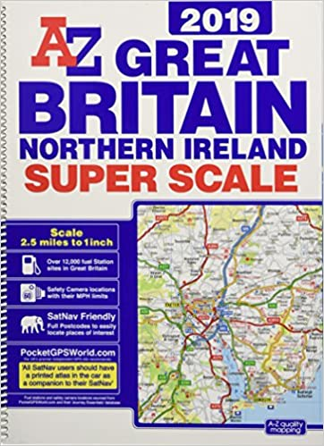 Great Britain Super Scale Road Atlas 2019 (A3 Spiral) on
