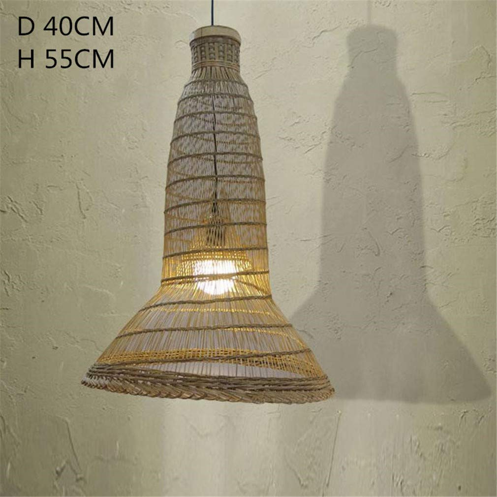 Araña Iluminación Colgante Luz Lámpara Colgante De Mimbre De ...