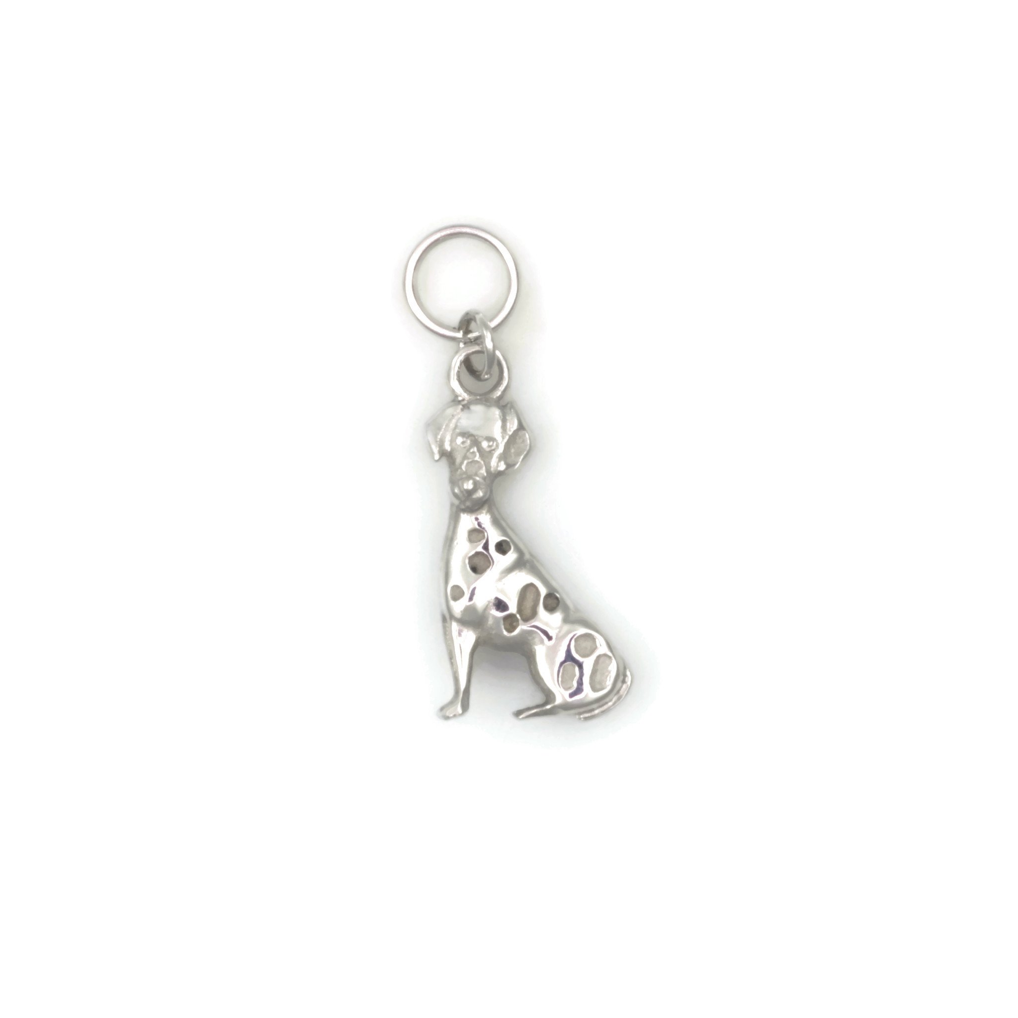 14Kt White Gold Dalmatian Charm, 14Kt White Gold Dalmatian Pendant, Donna Pizarro, Animal Whimsey Collection