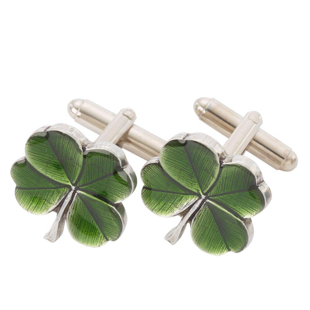 Danforth Clover (green) Cufflinks