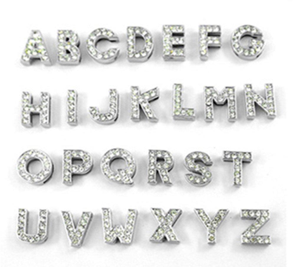 Entièrement 10mm DIY Strass Lettres Charm Patte Chien Hert étoile Couronne Fleur Infini Croix Chat ou Chiot Collier Bracelet Collier Fully