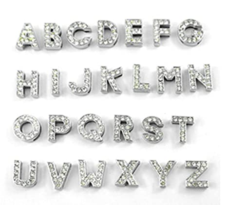 più recente 0cb66 2b8d9 Fully ciondolo con lettere da 10 mm con strass per collare cucciolo di cane  o gatto, collana bracciali fai da te