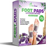 Premium 2 in 1 Foot Pads | All Natural Organic Ingredients | Sleep & Feel Better | 10 Pack | Lavender Infused | Odor, Stress Reducer, Cleanse & More | Rejuvenate