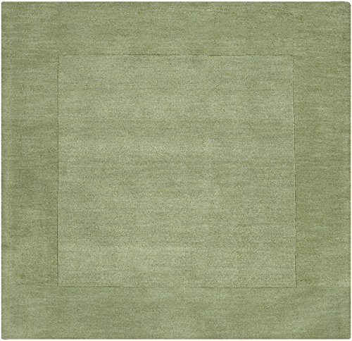 picture of Surya M-310 Mystique Solids and Borders Square Apple Green 6' Square Area Rug