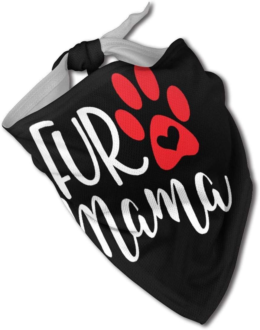 NHH Fur Mama Dog Bandana Collares Triángulo Pañuelo para el Cuello Baberos Bufandas Accesorios Gatos para Mascotas y Cachorros de bebé Toalla de Saliva