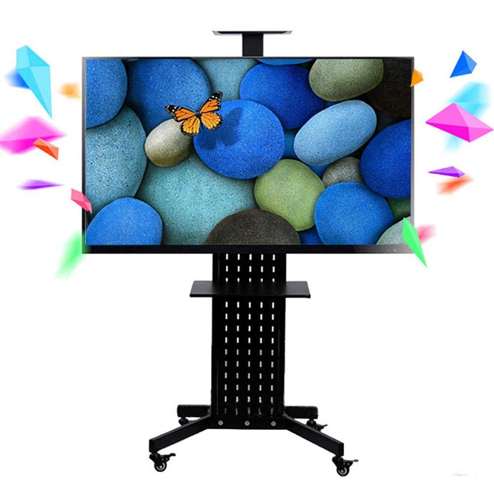 ビジネスローリングテレビスタンドモバイル tv カート、32-60 インチ LED 液晶プラズマフラットパネル360º回転の車輪モバイル高さ調整ベッドルーム教室会議室ビデオ通話   B07KNMV24X