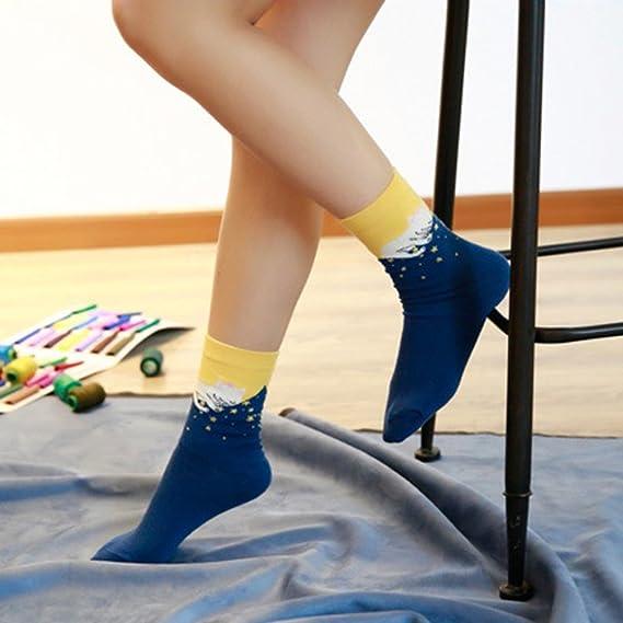 Calcetines de Algodón de Mujers - Bakicey calcetines térmicos Adulto Unisex Calcetines (Gato Casual): Amazon.es: Deportes y aire libre