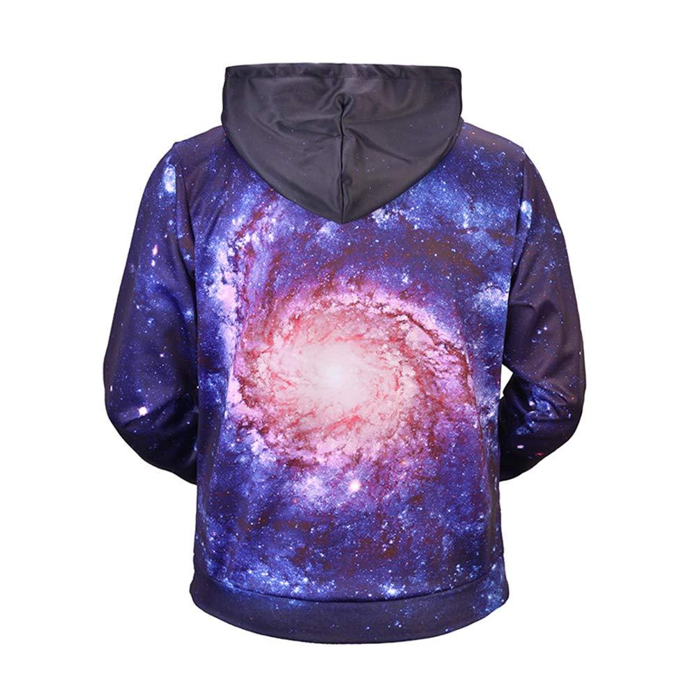 laamei Navideña Sudadera con Capucha de Navidad Unisex, Sudadera Navideña laamei Camiseta Cuello Redondo 3D Starry Sky Impresión Sudadera Pullover Hoodie Suéter de Navidad a3302d