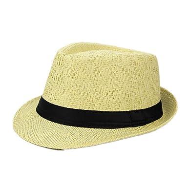 Hot Jazz Beach Hat Sun Panama Gangster Cap Men/'s Women Unisex Trilby Fedora
