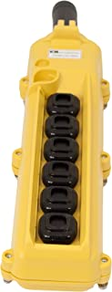 product image for KH Industries CPH06-D2D-000A 6 Push Buttons Pendant Control Switch, 3-Two Speed