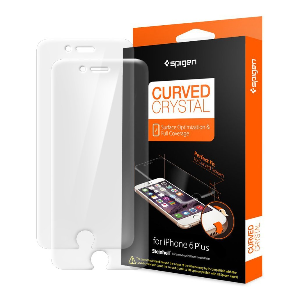 detailed look 52a06 55743 Spigen Curved Crystal iPhone 6 plus Screen Protector with Ultra Clear Film  for iPhone 6 plus