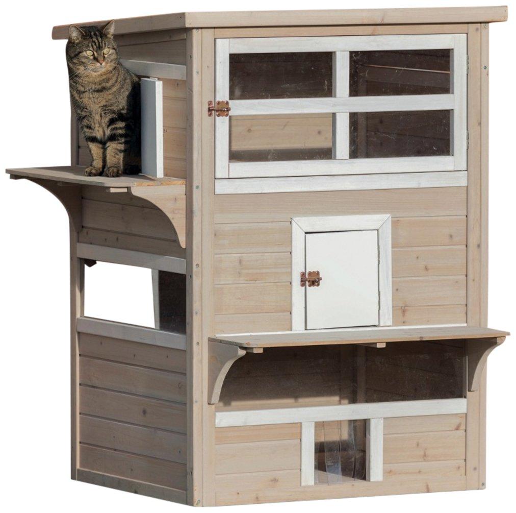 Amazon.com : Trixie Pet Products Wooden Outdoor Cat Sanctuary ...