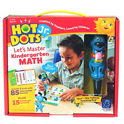 Educational Insights Hot Dots Jr. Let's Master Kindergarten Math Set with Ace Pen -