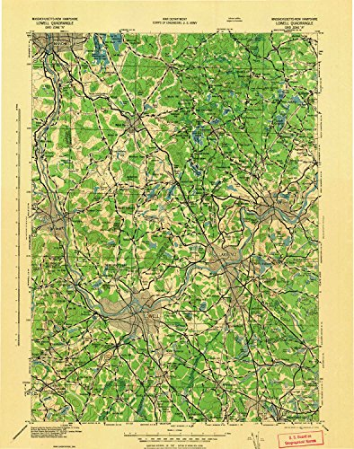 Lowell MA topo map, 1:125000 scale, 30 X 30 Minute, for sale  Delivered anywhere in USA