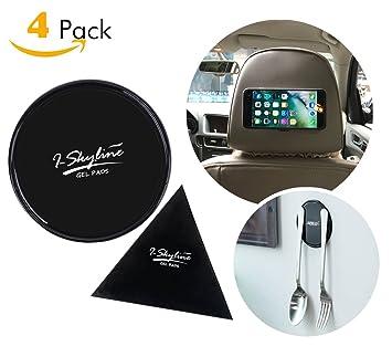 iskyline 4 unidades Stick celular almohadillas antideslizante Gel Pad alfombrillas para GPS de cristal pizarra Metal gabinetes de cocina o azulejos ...
