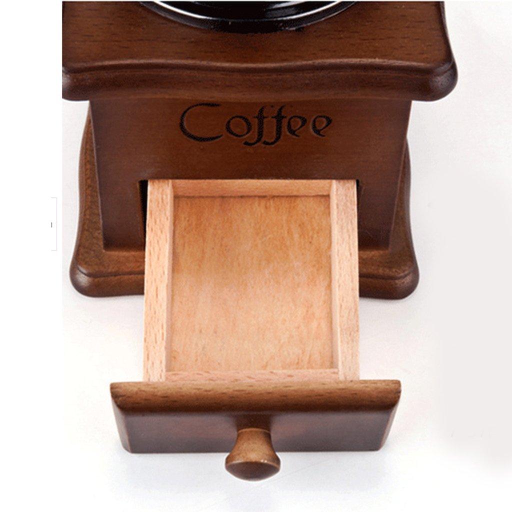 FITYLE Manuelle Kaffeem/ühle Edelstahl 9,6 x 21 cm Espresso-M/ühle