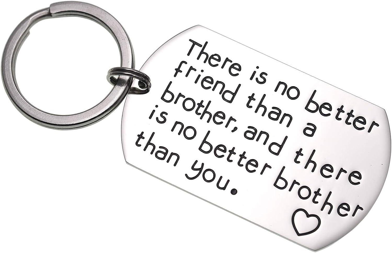 LParkin - Llavero de Regalo para Hermano no Hay Mejor Amigo Que un Hermano y no Hay Mejor Hermano Que Usted Regalo para Amigo Familia Joyas