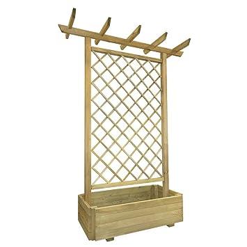 Anself Pflanzkasten Mit Spalier Aus Holz 162 X 56 204 Cm Amazon De