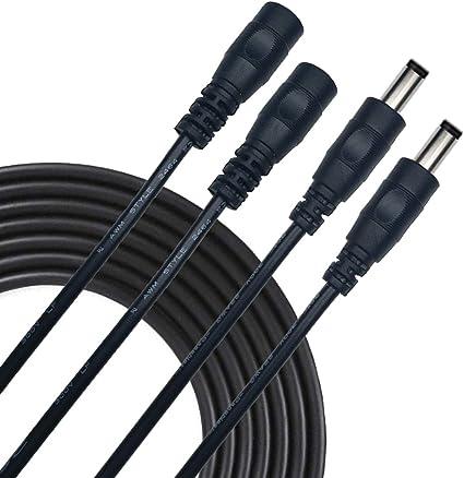 Liwinting 2pcs 3m Dc Verlängerungskabel 5 5 Mm X 2 5 Mm Elektronik