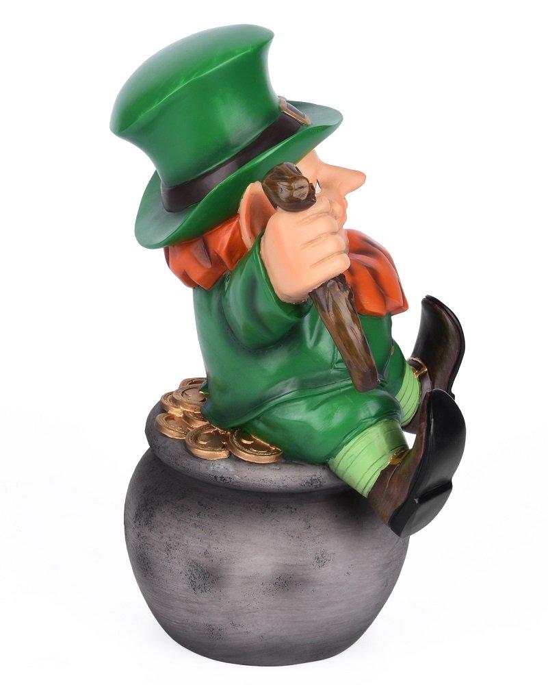 Sleken Leprechaun Figurine - Decorative Figure for St. Patrick's Day or Everyday (Pot of Gold) by Sleken (Image #2)