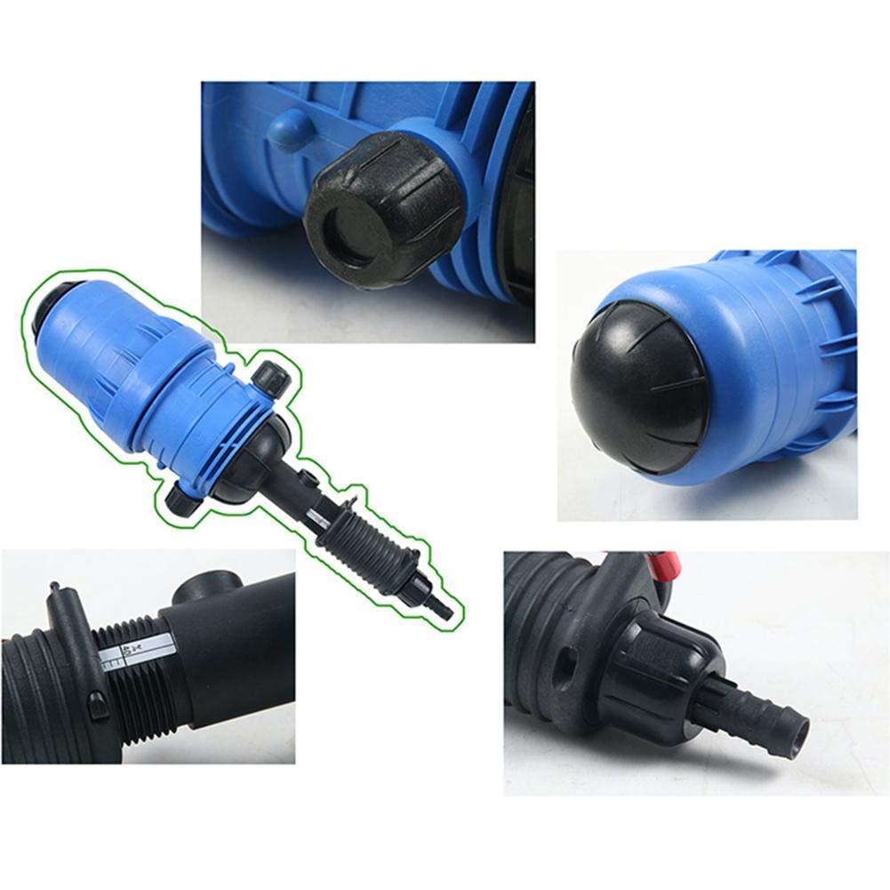 20-2500L Inyector de fertilizante autom/ático ajustable Dispensador de dosificador de l/íquido qu/ímico alimentado por agua h Bomba dosificadora de flujo alimentado por agua para manguera de Ganader/ía