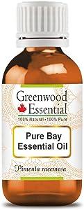 Greenwood Essential Pure Bay Essential Oil (Pimenta racemosa) 100% Natural Therapeutic Grade Steam Distilled 10ml (0.33 oz)