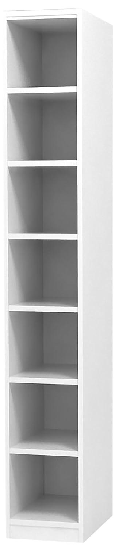 白井産業 タナリオ オーダーラック 高さ198cm 幅19cm 奥行19cm ホワイト 棚強度ST 追加棚板1枚 TNL-EM19819ASTF2WT1(組立式) B0144V1SJM ホワイト|1 ホワイト