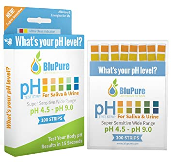Ph Test Strips + FREE Alkaline Food Chart PDF + Daily Tracking Sheet PDF |  Quick, Easy and Accurate