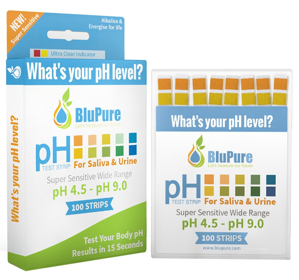 Ph Test Strips + FREE Alkaline Food Chart PDF + Daily Tracking Sheet PDF   Quick, Easy and Accurate Results in 15 Seconds for Urine & Saliva Test Strips  100ct 