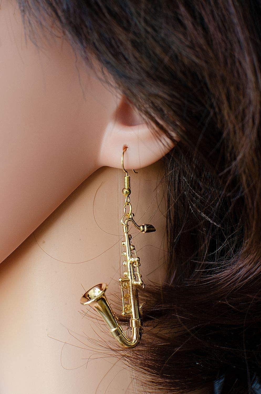 Box Musiker vergoldet Jazz Saxophon Sax Saxofon Schlüsselanhänger Miniblings