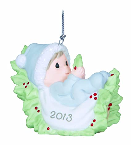 precious moments dated 2013 baby boy first christmas ornament - Baby Boy First Christmas Ornament