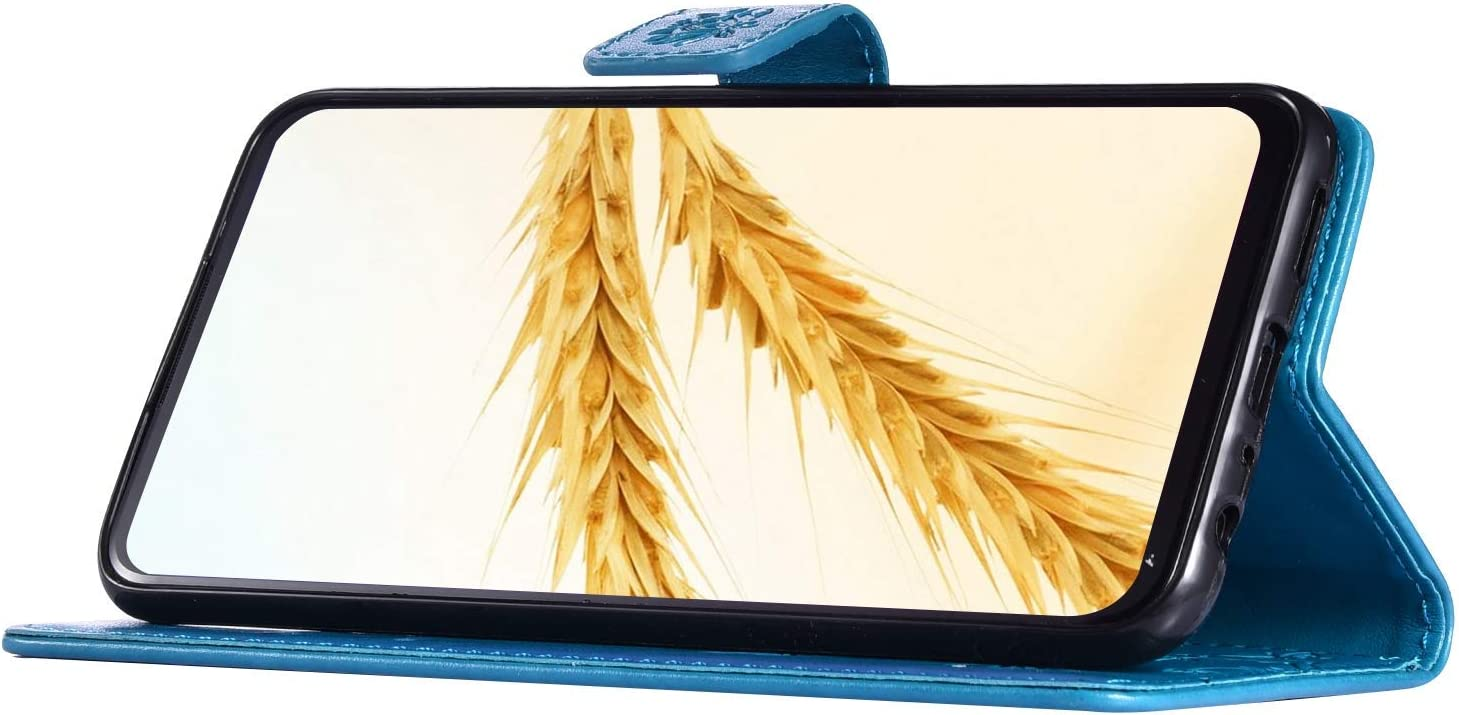 Surakey PU Leder H/ülle f/ür Samsung Galaxy A70 Handyh/ülle Schutzh/ülle Retro Schmetterling PU Leder Brieftasche Flip Case Wallet Tasche Ledertasche Handytasche St/änder Kartenf/ächer,Grau