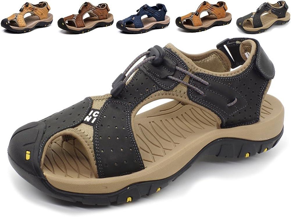 Womens Mens Closed Toe Hiking Walking Sports Travel Sandals Summer Beach Shoes
