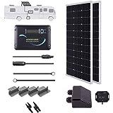 Renogy 200 Watts 12 Volts Monocrystallin Panel Solar RV Kit, 200W, Black