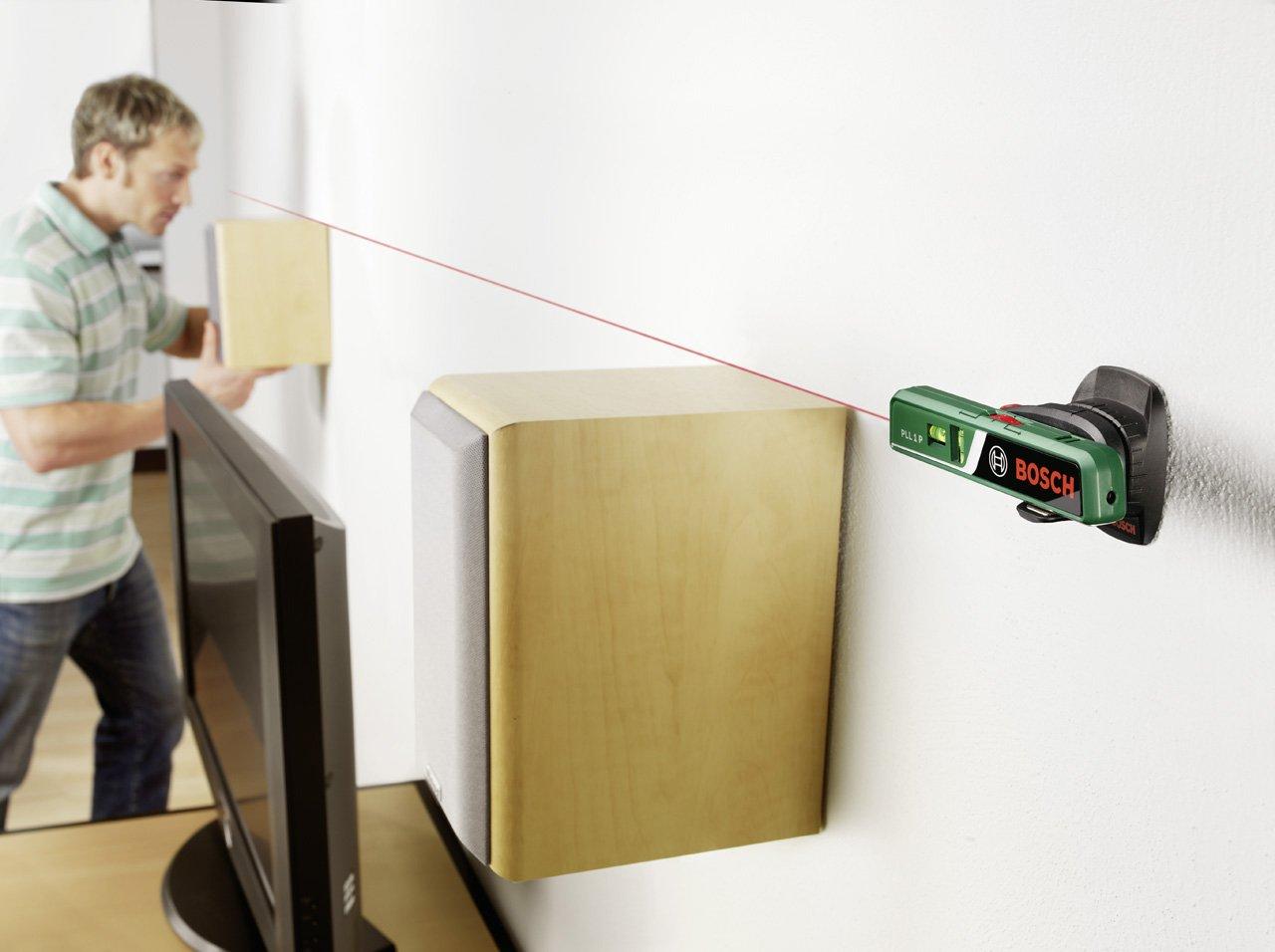 Laser Entfernungsmesser Linienlaser : Bosch laser wasserwaage pll 1 p batterien universalhalterung