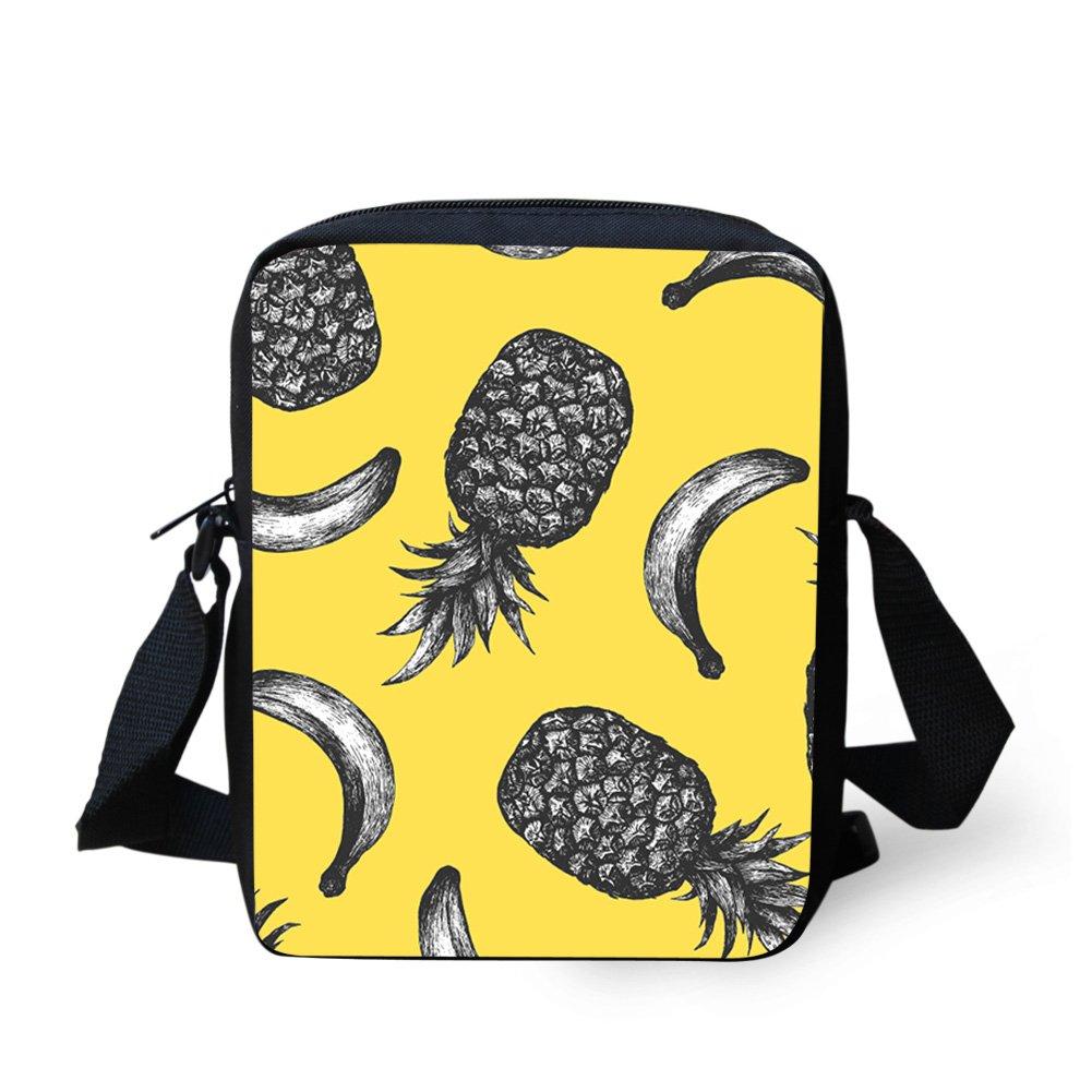 Sannovo Fruit Banana School Bag Girl Boy Small Messenger Satchel Mini Coin Purse