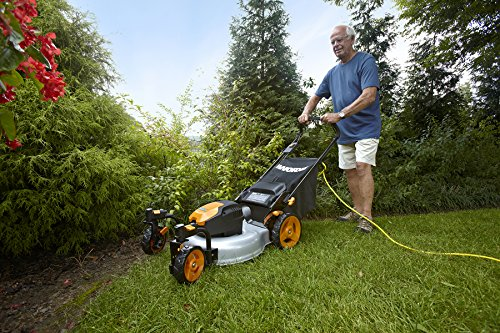 WORX WG719 13 Amp Caster Wheeled Electric Lawn Mower, 19-Inch by Worx (Image #3)