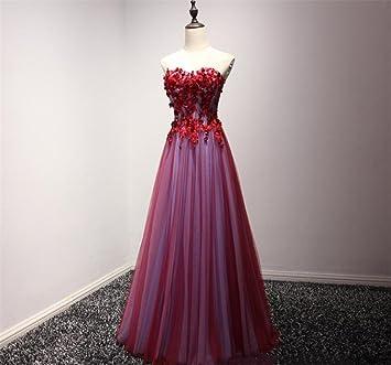 LUCKY-U Vestido largo mujer Floral Formal Vestido de fiesta de graduación Fiesta Vestido de