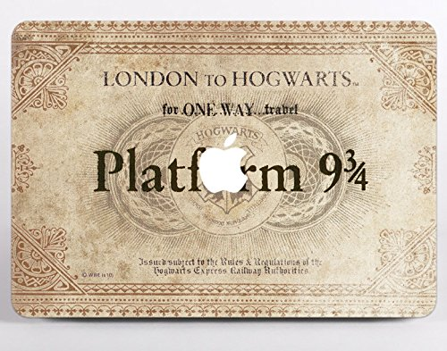 harry potter macbook case hard platform 9 34 london to hogwarts train ticket macbook air 13 inch air 12 air 11 pro 13 pro 15 inch macbook 12 retina hedwig