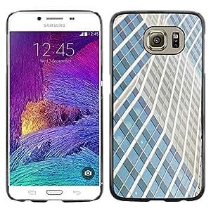 TopCaseStore / la caja del caucho duro de la cubierta de protección de la piel - Building Lines City Skyscraper - Samsung Galaxy S6 SM-G920