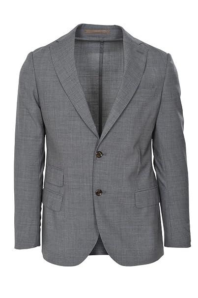 Eleventy Chaqueta Hombre Gris Solo Blazer Gris 46 Slim Fit: Amazon.es: Ropa y accesorios