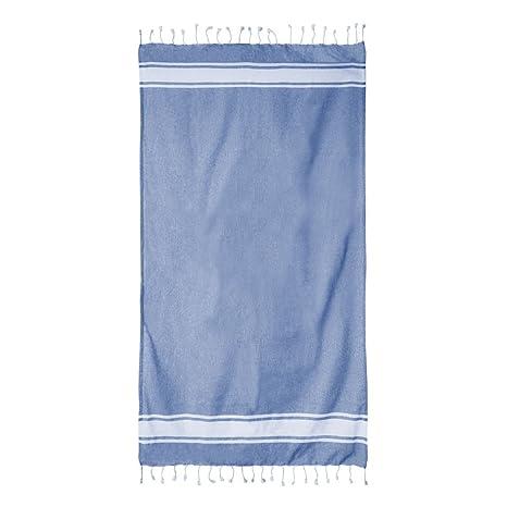 """Toalla Pareo """"Panamá"""" Azul, 100x200 cm - Foutas, pareos y toallas"""