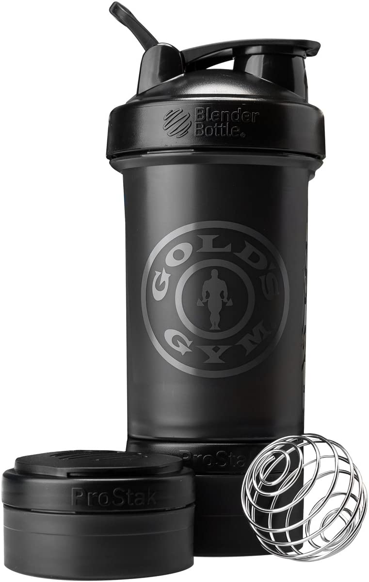 Blender Bottle Gold's Gym ProStak 22 oz. Shaker with Twist N' Lock Storage Jars