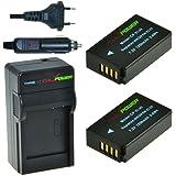 Chili Power en-el20, enel20Kit: 2x Batterie + Chargeur pour Nikon 1J1, Nikon 1J2, Nikon 1J3, Nikon 1AW1, Nikon 1S1, Blackmagic Pocket Cinema Camera, Nikon Coolpix A