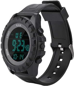 Reloj digital deportivo, Pantalla de fecha y hora de pulsera ...