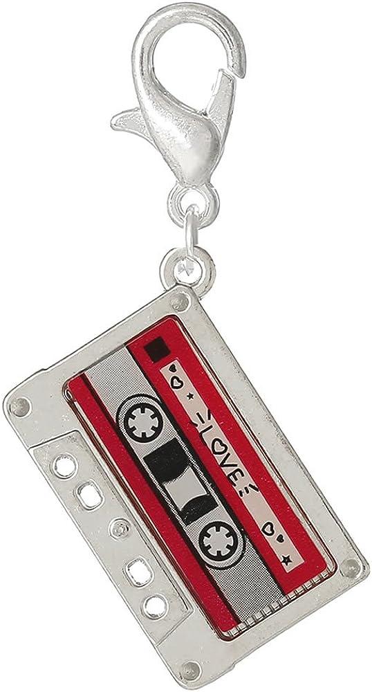 Love Cassette Tape Charm Bead